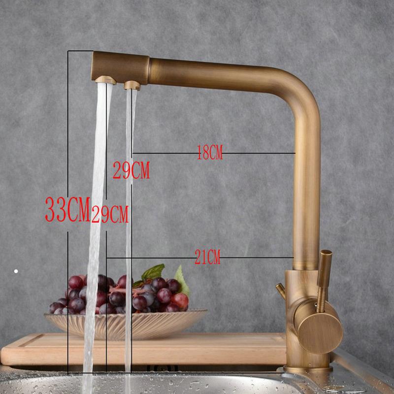 Moderne Simple produits pour salle de bain Poignée simple robinet d'évier Double sorties Cuivre jaune