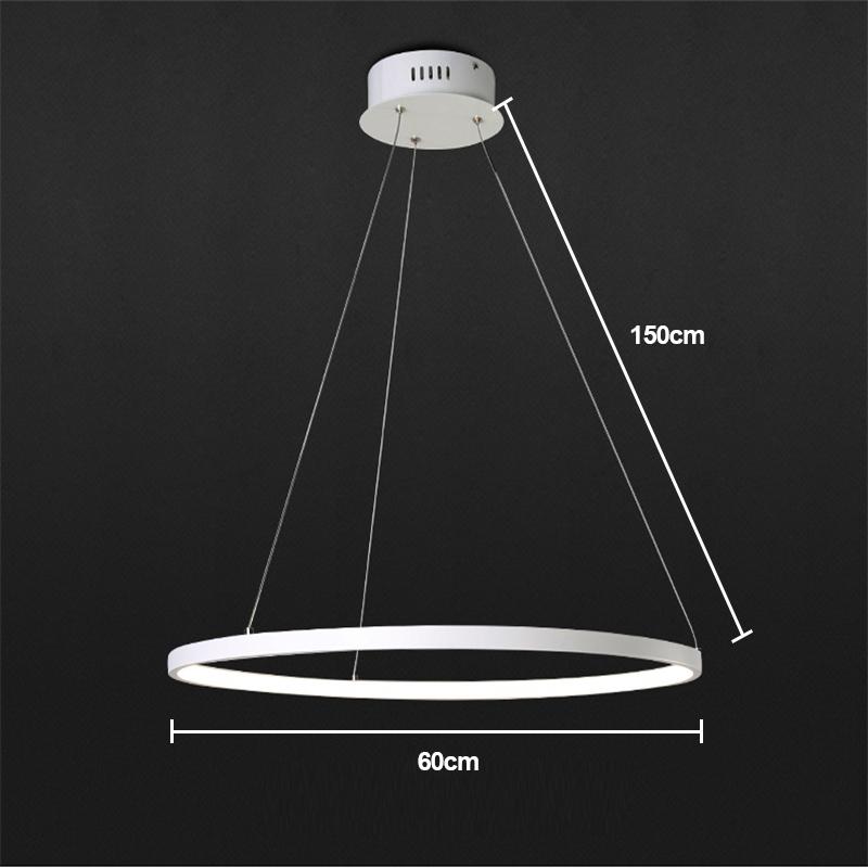 Moderne Simple Métal + Acrylique Blanc / blanc chaud LED SMD--1*30W Lustre