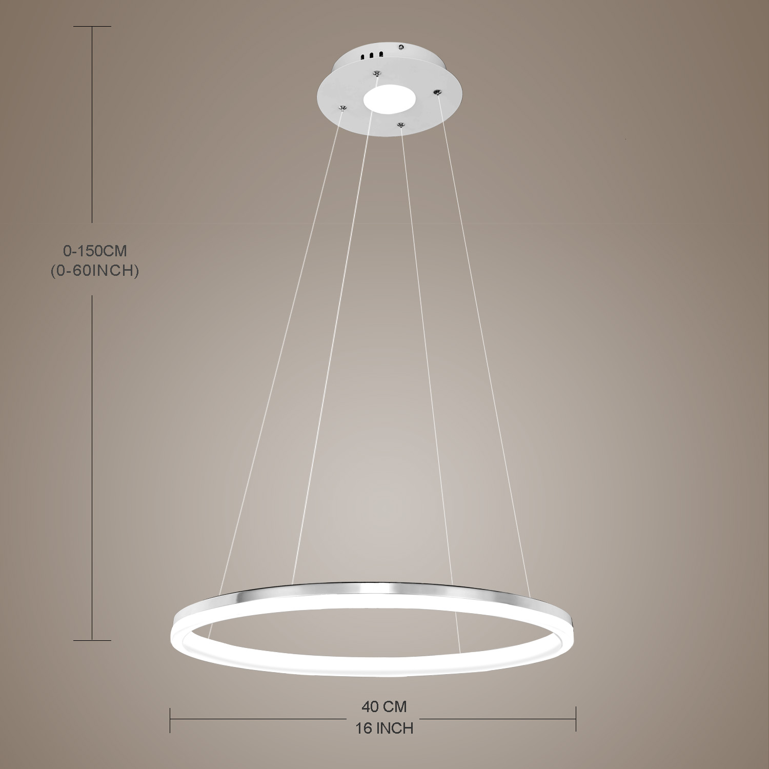 Moderne Simple Métal + Acrylique Blanc / blanc chaud LED SMD--1*15W Lustre