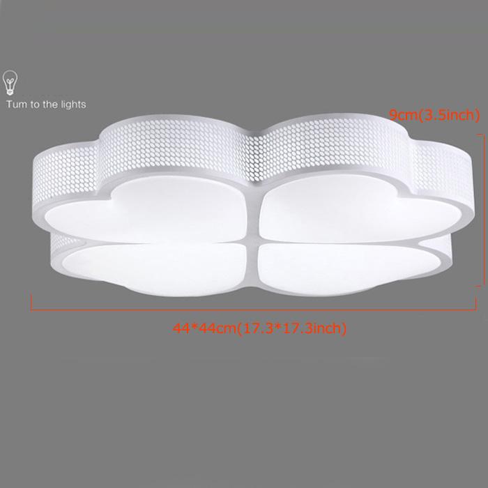 Plafonnier Moderne Acrylique Simple Creative LED Trèfle blanche encastrée Lumière Salon étude de Chambre Salle à manger