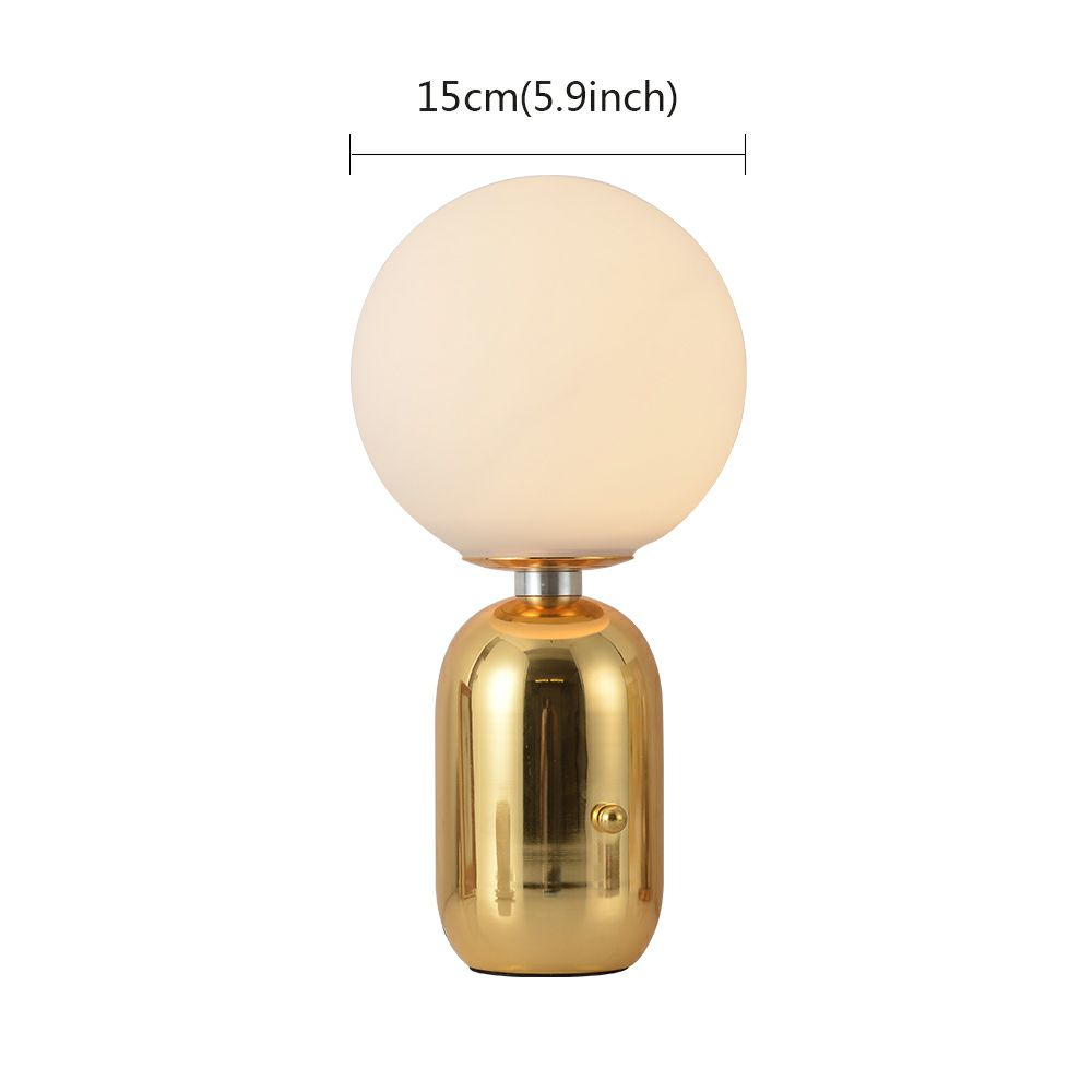 lampe poser ferronnerie d15cm bulle or base pour chevet salon post moderne. Black Bedroom Furniture Sets. Home Design Ideas
