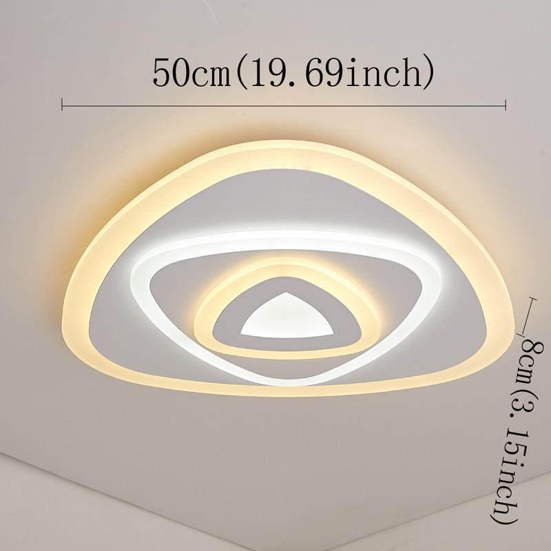 plafonnier triangle led d 50 cm pour salle chambre. Black Bedroom Furniture Sets. Home Design Ideas